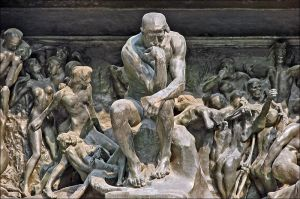 The Thinker in The Gates of Hell at the Musée Rodin